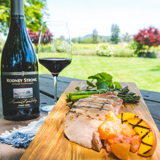Rodney Strong - Grilled Pork Chops with Peach Chutney